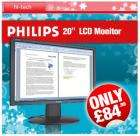 """Philips 200WS8FB : 20.1"""" LCD monitor - £84.99 delivered @ CDiscount! Plus free bottle of  wine."""