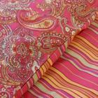 Paisley Pink Duvet Set Double £7.50 plus £4.95 P&P @ Wallace Sacks