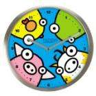 Nurdys Wall Clocks - Polished Steel - £9.18 (74% off) @ Amazon