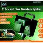 Masterplug 2 socket 5m garden spike was £10 now £2.48 wilkinsons