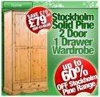Up to 60% Off the Stockholm Solid Pine Furniture Range @ CDiscount! From £19.99