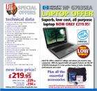 Refurbished Hewlett Packard laptop with built in webcam £219.95+£6.95 delivery @ IJT Direct