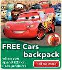 FREE Cars backpack when you spend £25 on Cars toys @ ELC  + free vouchers