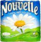 Nouvelle 100% Recycled Quilted Luxury White Toilet Tissue (4)  £1.35  (33.8p / Roll) @ Sainsburys