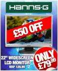 "Hanns G HG 221AP 22"" Widescreen LCD Monitor - £83.97 delivered @ Cdiscount"