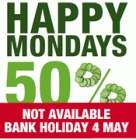 50% off all food, every Monday at Slug & Lettuce (In Pub Only!)