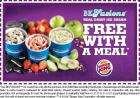 Voucher for free icecream with adult meal purchase @Burger King