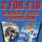 2 DVDs for £10 at thehut.com (about 240 to choose from!)