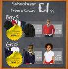 Schoolwear from just £1.99 @ Bargain Crazy ~ Blazers just £4.99 !