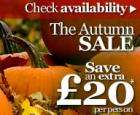 Save an extra  £20 per person on all breaks in October, November & December @ Warner Leisure Group!