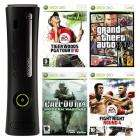 Xbox 360 Elite Console + Fight Night 4 + Tiger Woods 2010 + COD 4 + GTA IV  - £239.99 @ Game
