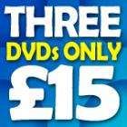 3 For £15 on Selected Dvds