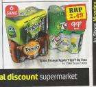 6 cans Tango - Orange /Apple - 7 UP + Diet - Netto + 99p - Monday 5th - Instore only