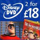 Disney DVD Offer - 2 for £18 with free delivery