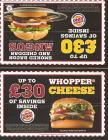 ITS BACK!!! Burger King Voucher Booklet