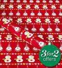 Back in stock, 3 x 6 Metre rolls of Xmas wrap for £2.90 delivered at M&S!