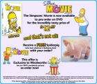 Free Spider Pig with purchase of the Simpsons Movie !