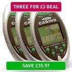 3 x 5 in 1 Pocket Casino Game OR  3 x Electronic Sudoku Game - £3 @ Ministry Of Deals