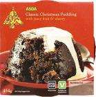 ASDA Classic Christmas Pudding with Juicy Fruit & Sherry (454g) for £1