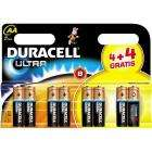 Duracell Ultra Batteries AA 4 + 4 Extra Free (8 Batteries) £3 @ Netto
