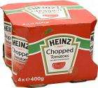 Heinz Chopped Tomatoes in Tomato Juice (4x400g) was £3.78 Now £1.85 @ Tesco