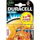 Duracell Ultra AA Includes AAA 4 Pack + 4 Free Extra Free Was £3.99 Now £3 @ Morrison's