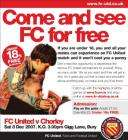 FC United v Chorley - Under 18s Get in for Free 08/12/07