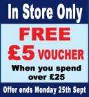 £5 Voucher for £25 spend at  Robertdyas (in-store) until 25th Sep