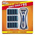 12 Gillette Fusion Blades + Razor £19.99 @ Amazon