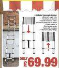 3.2M Telescopic Extension Ladder £69.99@Netto
