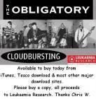 The Obligatory - Cloudbursting £1.58 @ iTunes