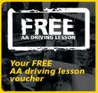Free AA driving lesson: 3 for the price of 2  !!