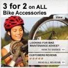 3 for 2 on ALL Bike Accessories, Parts, Maintenance & Tools at Halfords