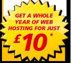 Free one year web hosting: SAVE UP TO £289.88 ! + one-off setup fee of £10+VAT (24mth contract) @ 1and1 Internet Limited