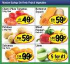 Cherry Plum Tomatoes 250g 49p, 3 Mixed Peppers 99p, Satsumas 1kg 99p, Limes 25p or 5 for £1 & Butternut Squash 59p all at Lidl