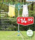 Freestanding Rotary Clothes Airer £14.99 @ Aldi