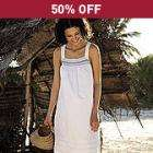 Decorative Stitch Fully Lined Sun Dress was £50, now £25 delivered @ The White Stuff