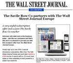 £100 gift voucher for Savile Row Co when you subscribe to Wall Street Journal