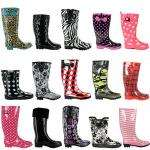 NEW LADIES FUNKY FESTIVAL WELLIES WELLINGTON BOOTS £9.99 a pair delivered @ Ebay (Deal of the Day)