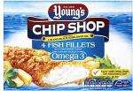 Young's Chip Shop Fish Fillets (4 per pack - 400g) Half Price - £1.49 at Tesco
