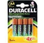 Duracell Supreme Rechargeable Ni-Mh Batteries - AA 2450 mAh - 4 Pack £3.99 Delivered @ 7dayshop