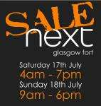 Glasgow Fort - Next Opens @ 4am Saturday for Sale - Millies Cookies Opens 4.30am - Also Other Offers in Post