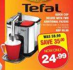 Tefal quick cup deluxe with 2 additional filters £29.36 @ Makro