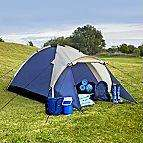 B&Q 2 Man Tent Starter Set. Includes tent, 2 sleeping bags, 2 foam mats and carry bag. Over 50% 0ff now only £14.96
