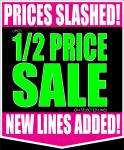 Half price sale at Wynsors world of shoes