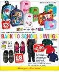 Netto Back To School Offers - Luchboxes & Backpacks (eg. Peppa, Ben 10) £3, Dora & Ben 10 Shoes £10, School Trousers, Cardigans, Sweatshirts, Jumpers & Fleeces £2.50 each