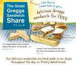 Sandwich Share from Greggs - 2 for the price of 1