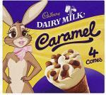 Cadbury Dairy Milk Caramel Cones (4x130ml) £1 @ Tesco