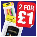 2 For £1 Stationery Range @ Poundland