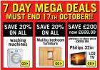 New Phase II : 7 day Mega Deals at Argos (ends 17 Oct) !!!